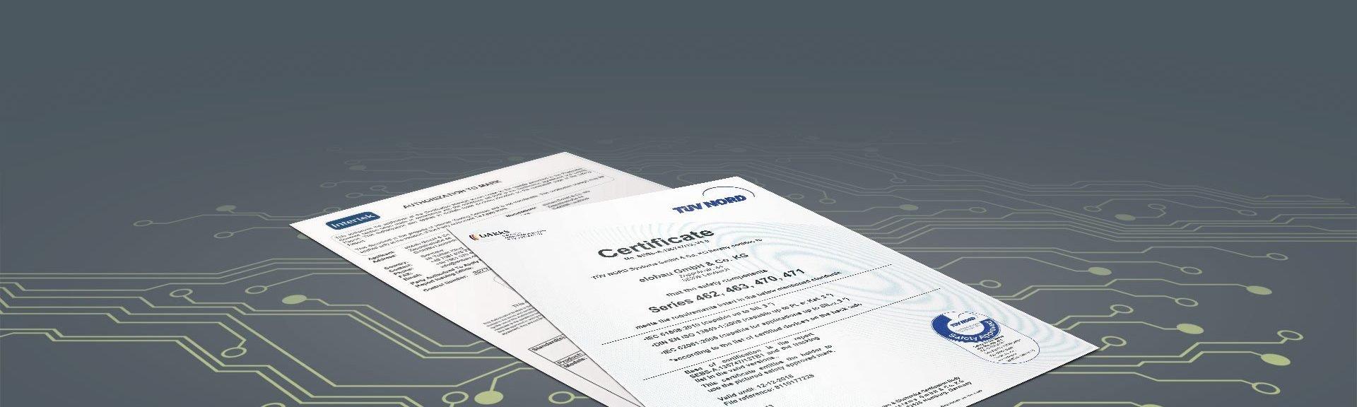 Zertifikate Bedienelemente