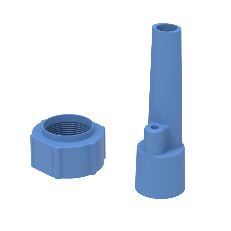 Sauglanze Adapter_blue