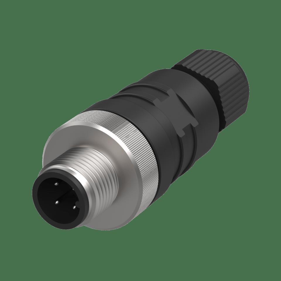 Rundsteckverbinder M12 4-polig