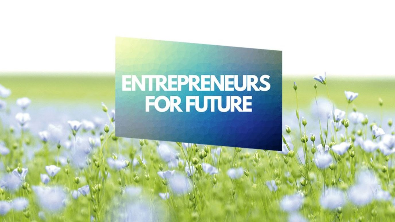 Wiese mit dem Text Entrepreneus for Future
