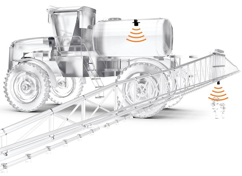 Anwendung Ultraschallsensor Agrarmaschine
