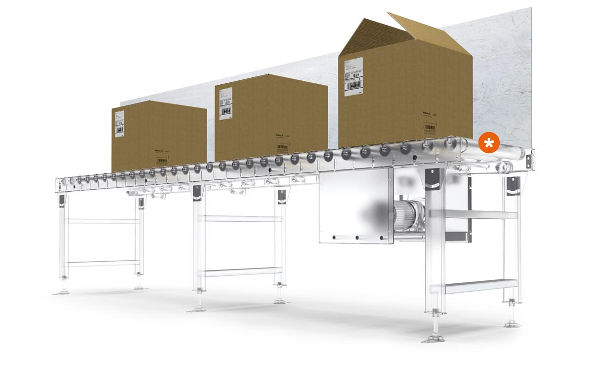 Ultraschallsensor bei der Anwendung in der Verpackungsmaschine
