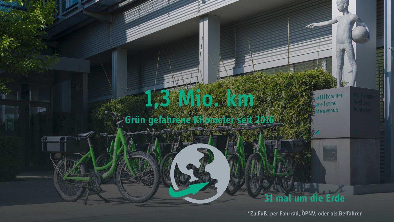 Fahrradparkplatz bei elobau