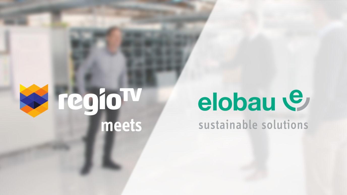 Logos von regioTv und elobau nebeneinander