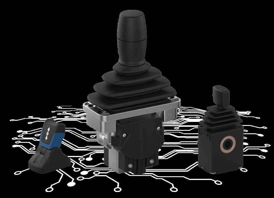 Industrial joysticks single-axis from elobau