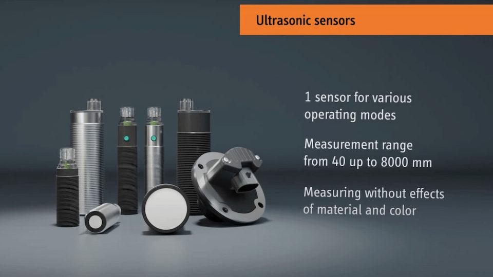Ultrasonic sensors   High operating ranges up to 8 m   elobau
